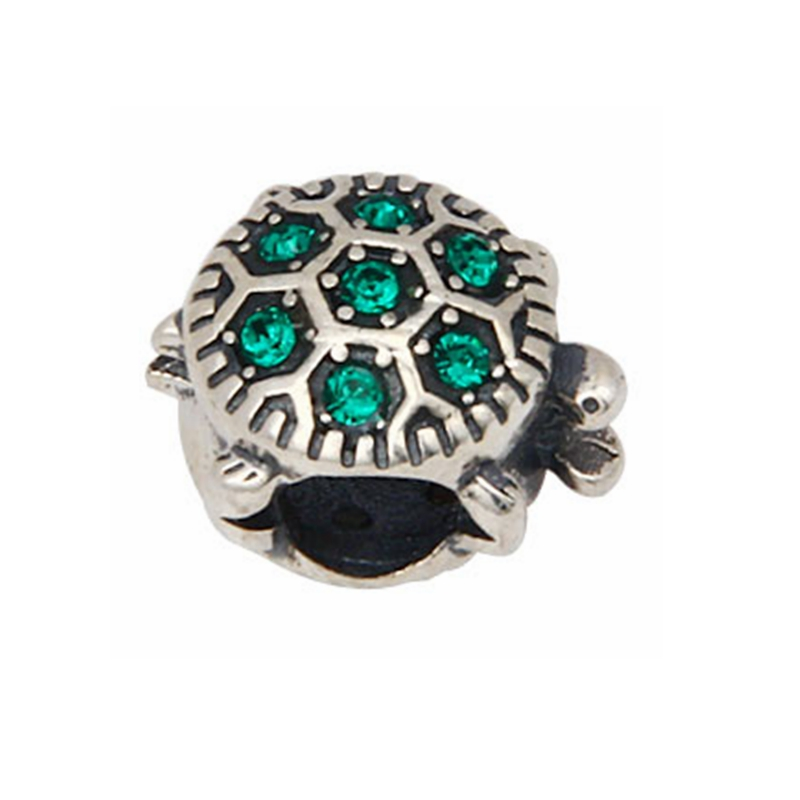 Sea Turtle Bead with Bling Australian Crystal Original 100% Authentic 925 Sterling Silver Beads fit for Pandora Charms bracelets
