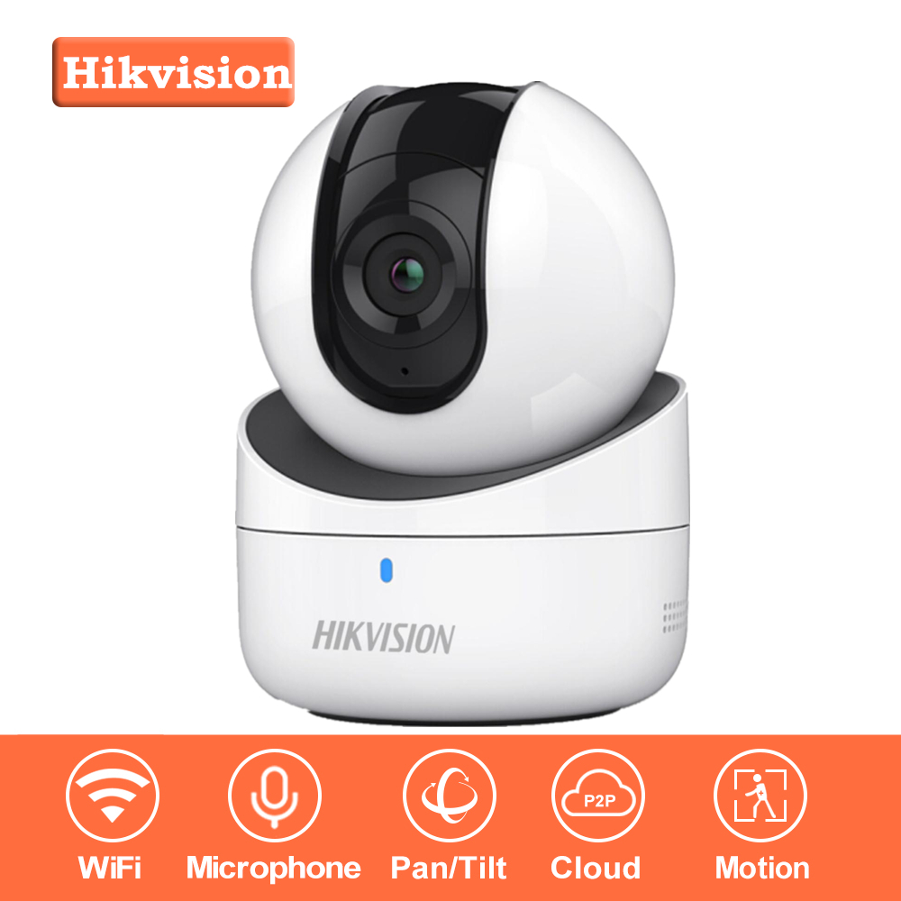 In Stock Hikvision Mini WiFi Camera 720P CMOS Wireless IP Camera DS-2CV2Q01FD-IW Wi-Fi Network PT Camera Built-in Speaker & SD nicecnc cnc forged rear foot brake pedal lever for kawasaki kx250f 2004 2016 2006 2008 2010 2012 20104 2015 kx 250f