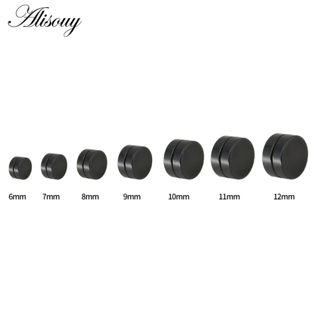 Alisouy 2pcs Punk Mens Strong Magnet Magnetic Ear Stud Set Non Piercing Earrings Fake Earrings Gift.jpg 640x640 - Alisouy 2pcs Punk Mens Strong Magnet Magnetic Ear Stud Set Non Piercing Earrings Fake Earrings Gift for Boyfriend Lover Jewelry