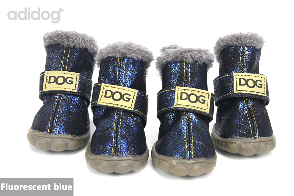 Pet Dog Shoes Winter Super Warm 4pcs set Dogs Boots Cotton Anti Slip XS 2XL Shoes for Small Pet Product ChiHuaHua Waterproof 410