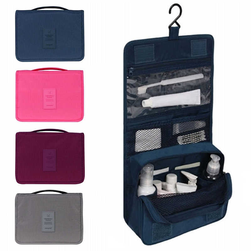 Unisex Hanging Toiletry Bag Kit Cosmetic Carry Travel Organizer Make  Foldable Storage Bag For Traveling Bathroom e85ad9f0b65a1