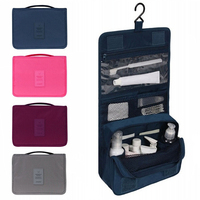Unisex Hanging Toiletry Bag Kit Cosmetic Carry Travel Organizer Make Foldable Storage Bag For Traveling Bathroom