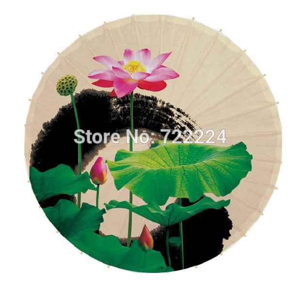 Dia 50cm small beautiful lotus picture umbrella for child classical handmade waterproof sunshade props gift oiled paper umbrella dia 84cm chinese handmade red plum blossom oil paper umbrella ancient waterproof sunshade parasol decoration gift dance umbrella