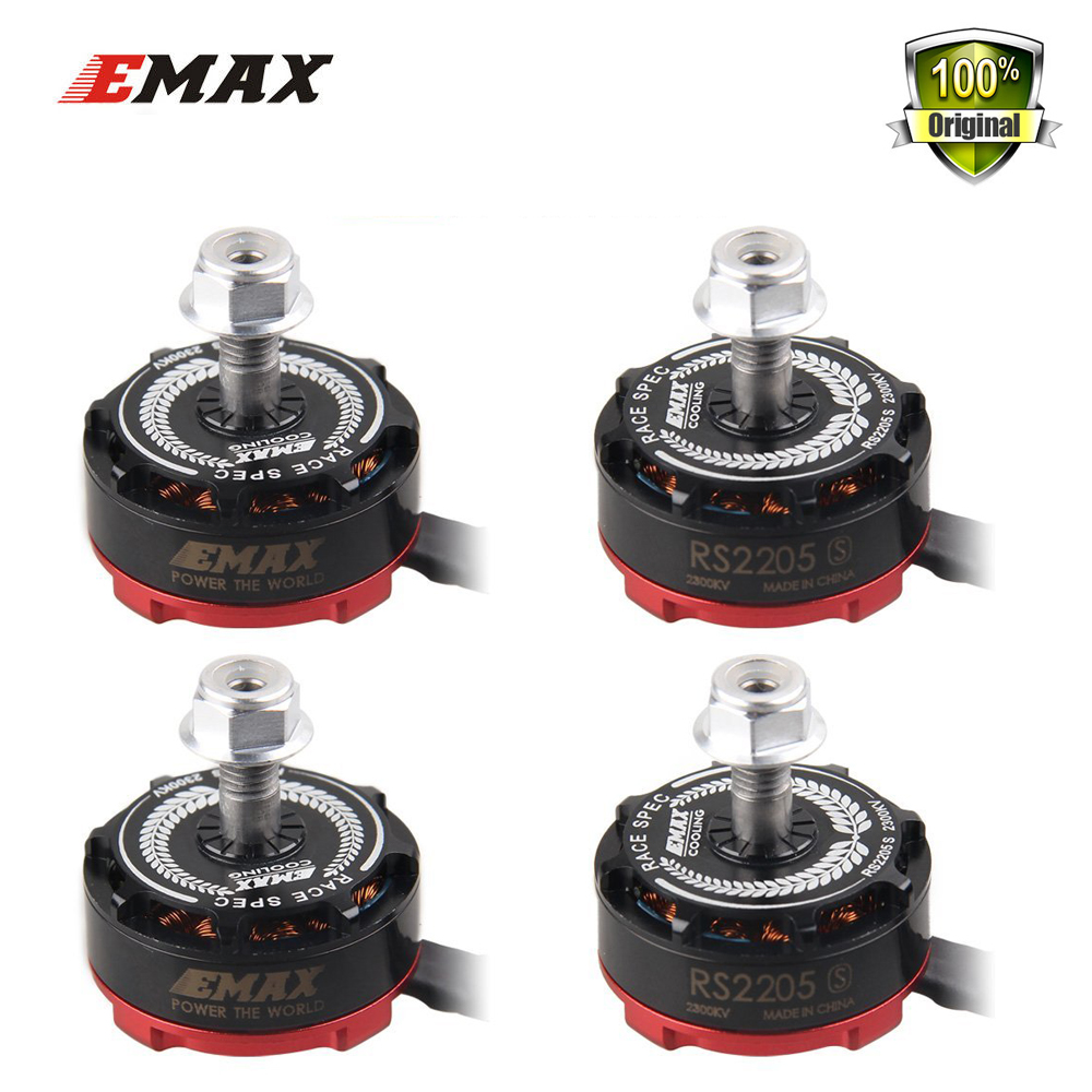 EMAX RS2205-S RS2205S 4 pcs 2300KV or 2600KV Brushless Motor for ESC X210 QAV250 QAV300 FPV Quadcopter Drone better than MT2204 drone with camera rc plane qav 250 carbon frame f3 flight controller emax rs2205 2300kv motor fiber mini quadcopter