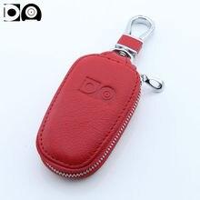 Newest Car key wallet case bag holder accessories for Hyundai Santa Fe ix35 ix20 i10 i20 i30 i40 sonata Genesis Elantra Tucson