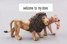 solid pvc figure Wild animal model toy lion family