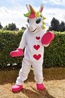Пони маскоты костюм животного костюм коня маскота милое сердце печатных парад клоуны дни рождения для взрослых Хэллоуин костюмы
