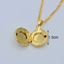 Small Allah Box Pendant Necklace for Women/Muslim Necklaces Jewelry Girl,Gold Color Islam Prophet Muhammad #016702