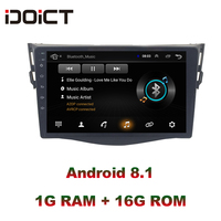 IDOICT Android 8.1 Car DVD Player GPS Navigation Multimedia For Toyota Rav4 Radio 2008 2013 wifi bluetooth