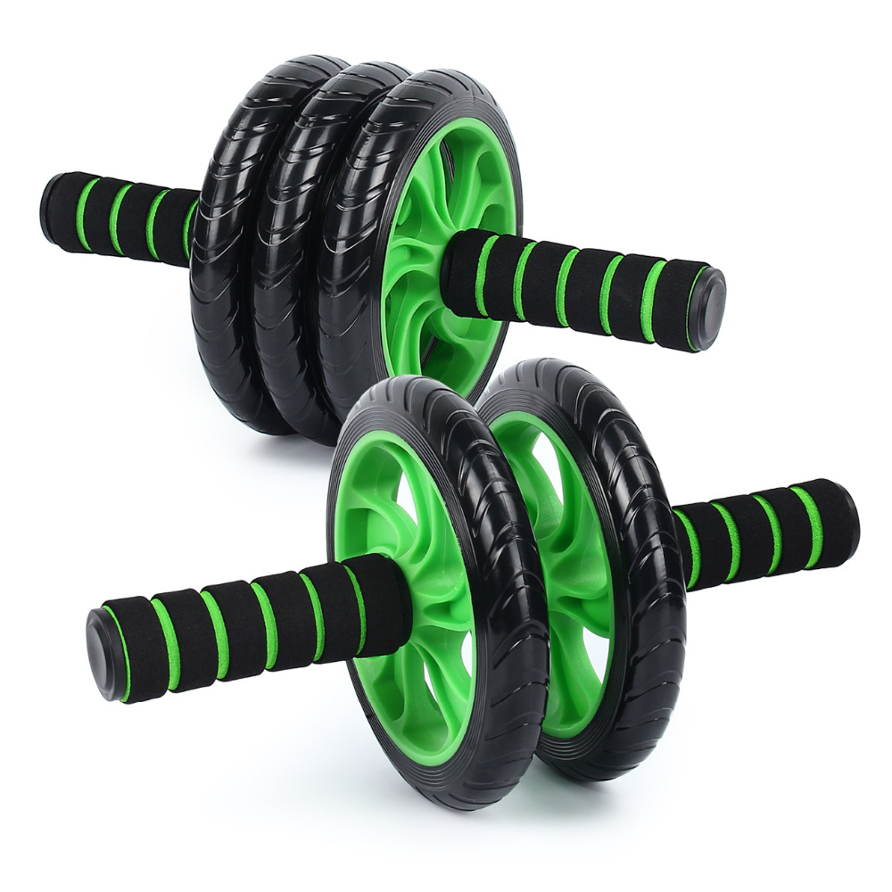 Abdominal Exercise Wheel AB Rollers Exerciser Fitness Workout Gym Roller Great for Arms, Back, Belly Core trainer Free Knee Pad