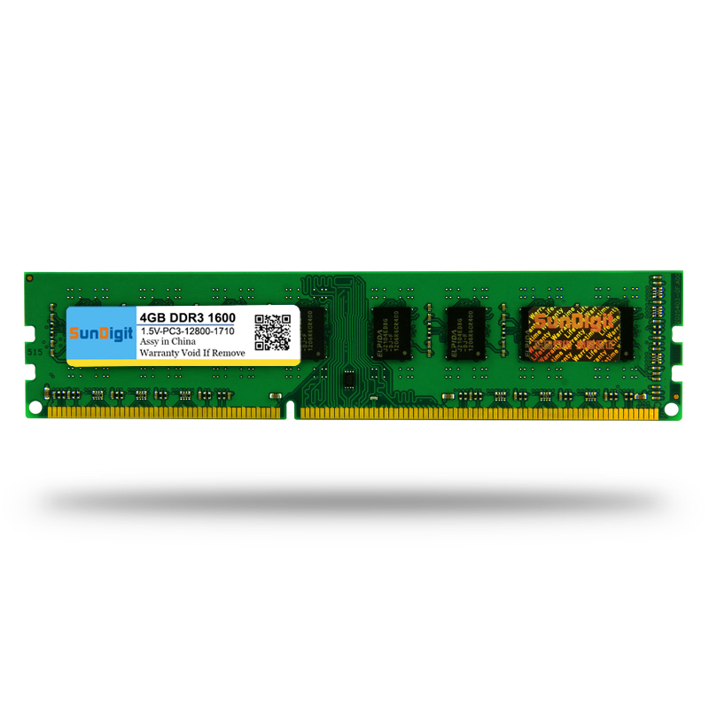 New For AMD Memory RAM SunDigit DDR 2 3 DDR2 DDR3 PC2 PC3 12800 10600 1GB 2GB 4GB 8GB Computer Desktop PC 667 800 1333 1600MHz in RAMs from Computer Office