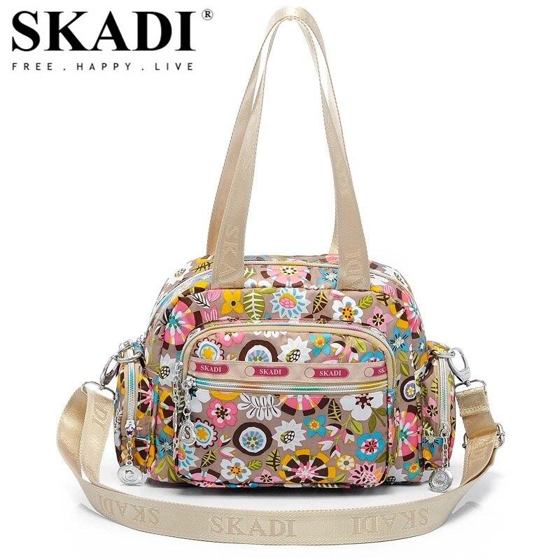 SKADI Famous Brand Mermaid Flower WaterProof Shoulder Bag Blosa Mujer Travel Small Crossbody Bag Ladies Women Messenger Bag skadi s 152