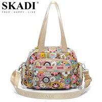 SKADI Famous Brand Mermaid Flower WaterProof Shoulder Bag Blosa Mujer Travel Small Crossbody Bag Ladies Women Messenger Bag