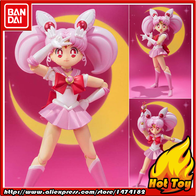 100% Original BANDAI Tamashii Nations S.H.Figuarts (SHF) Action Figure - Chibi Moon from Pretty Guardian Sailor Moon
