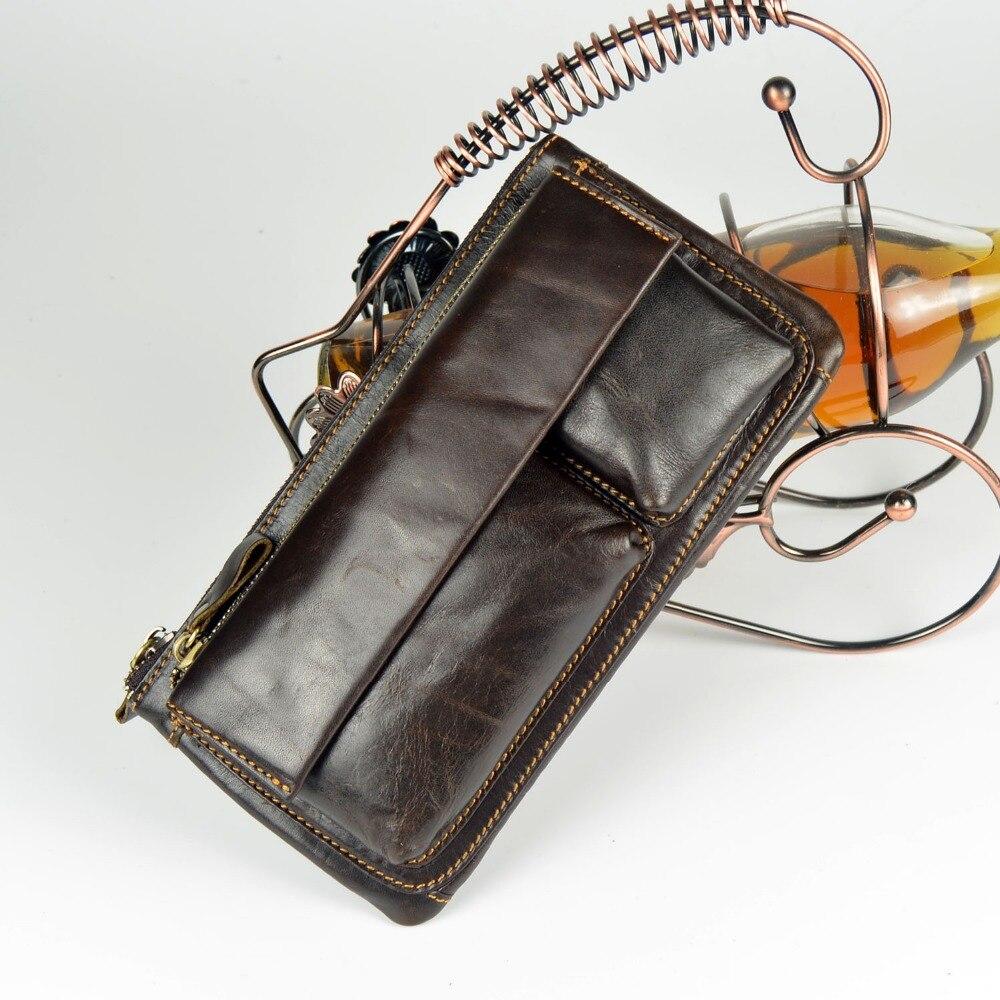 Multifuncional hombre Monedero de cuero genuino Messenger Bag bolso - Bolsos - foto 4