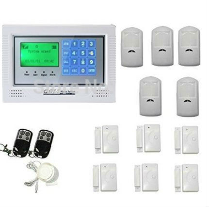 Russian/Spanish/French /Italian/Czech/Portuguese Wireless Home Alarm Security System With Dialer DIY Kit