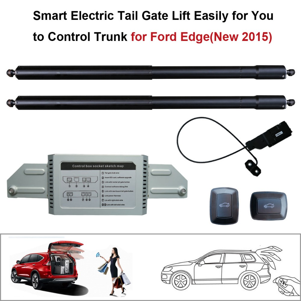 Smart Auto Electric Tail Gate Lift For Ford Edge Remote Control Set Height Avoid Pinch With Electric Suction