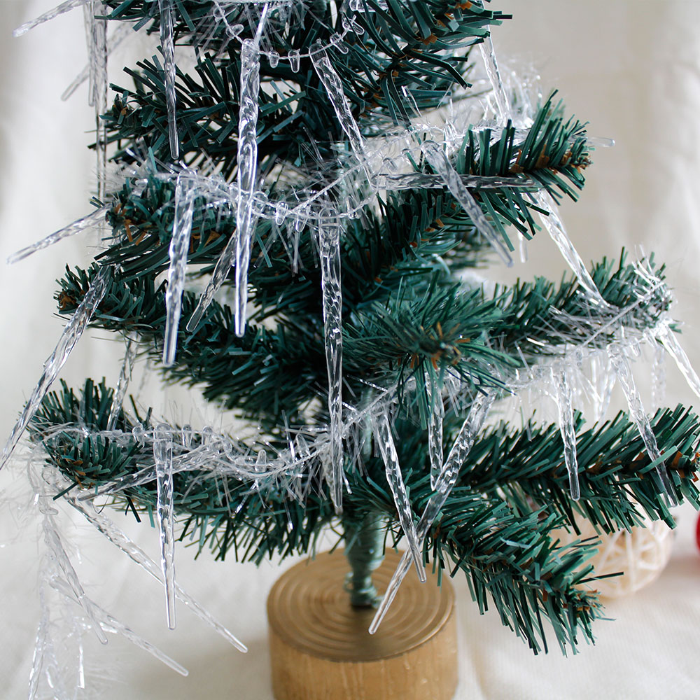 Icicle For Christmas Trees.1 8m 2pcs Christmas Icicle String Xmas Tree Decoration