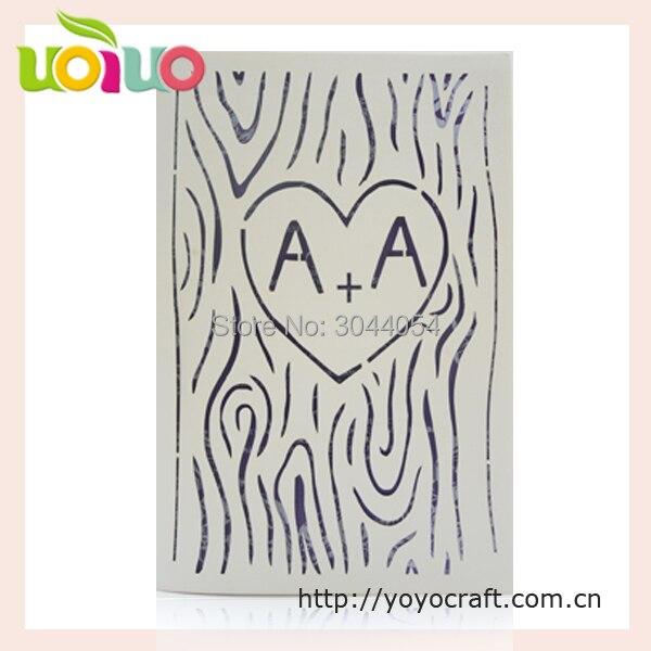 Free logo promotion laser cut scroll wedding invitations card 3d handmade baby naming ceremony invitation cards printing