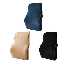 Dewtreetali Car Memory Foam Lumbar Back Support Pillow Cushion Home Office Auto Seat Supports Chair Styling