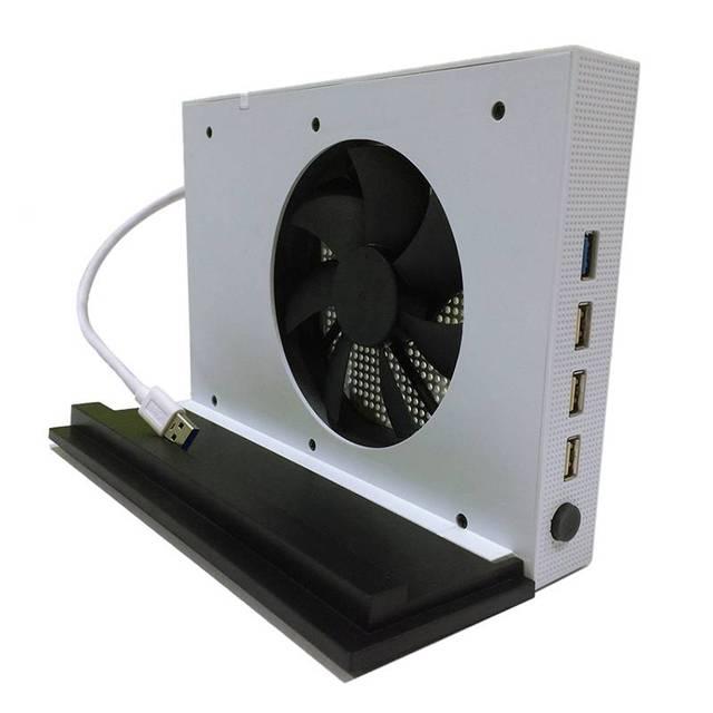 New vertical stand titular base + ventilador de refrigeração + hub usb para x-one slim xbox one slim # ld456