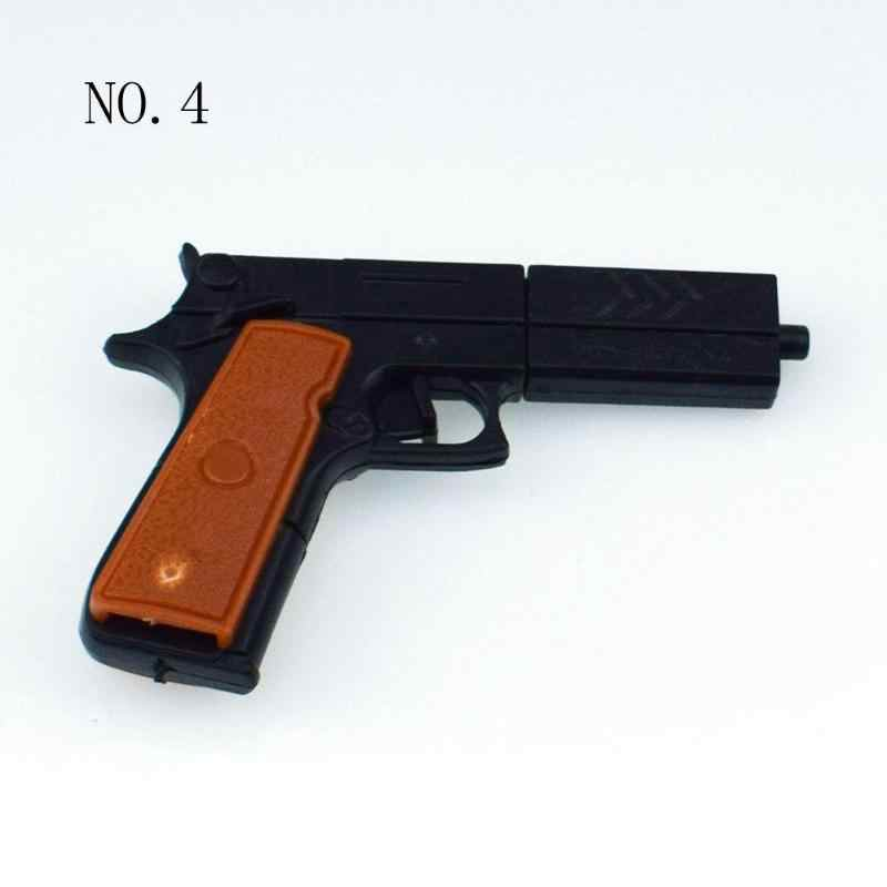 Ensamblaje de plástico de goma lanzador DIY pistola de disparo pistolas niños juguetes regalo