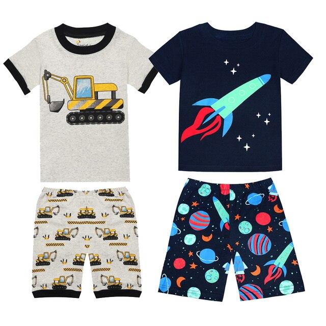 3704deaa5 Pequeño de niños de manga corta conjuntos de pijama para niños de algodón  de las niñas de la ropa ...