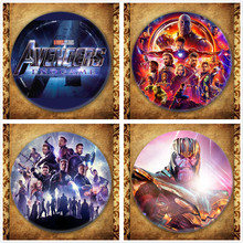Marvel Movie Avengers Endgame Display Badge Fashion Superhero Thanos Iron Man Captain America Brooches Pin Jewelry Accessories