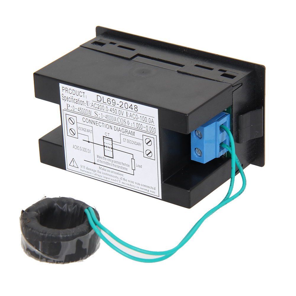 Accurate Energy Meter Ac200v 450v Digital Ammeter Voltmeter Din Rail And Method Of On Electric Box Installation Diagram Current