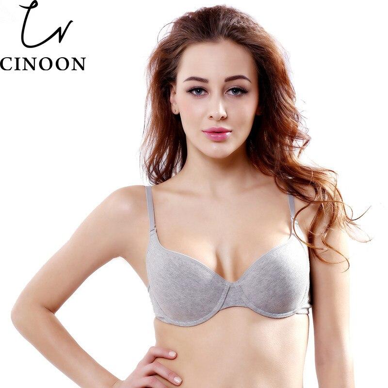 CINOON New Arrival moterims patogi medvilninė apatinė liemenėlė pilka spalva Pasirinkite liemenėlę B C Cup Plus dydžio moteriška apatinė liemenėlė