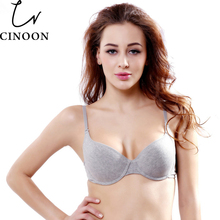 CINOON New Arrival Women Comfortable Cotton Underwear push up bra Gray Color Choose Bra B C Cup Plus size Women Underwear Bra