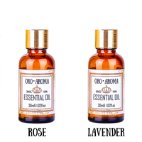 Famous brand oroaroma hair care set natural aromatherapy Rose Lavender essential oil Repair skin care Massage Oil 30ml*2