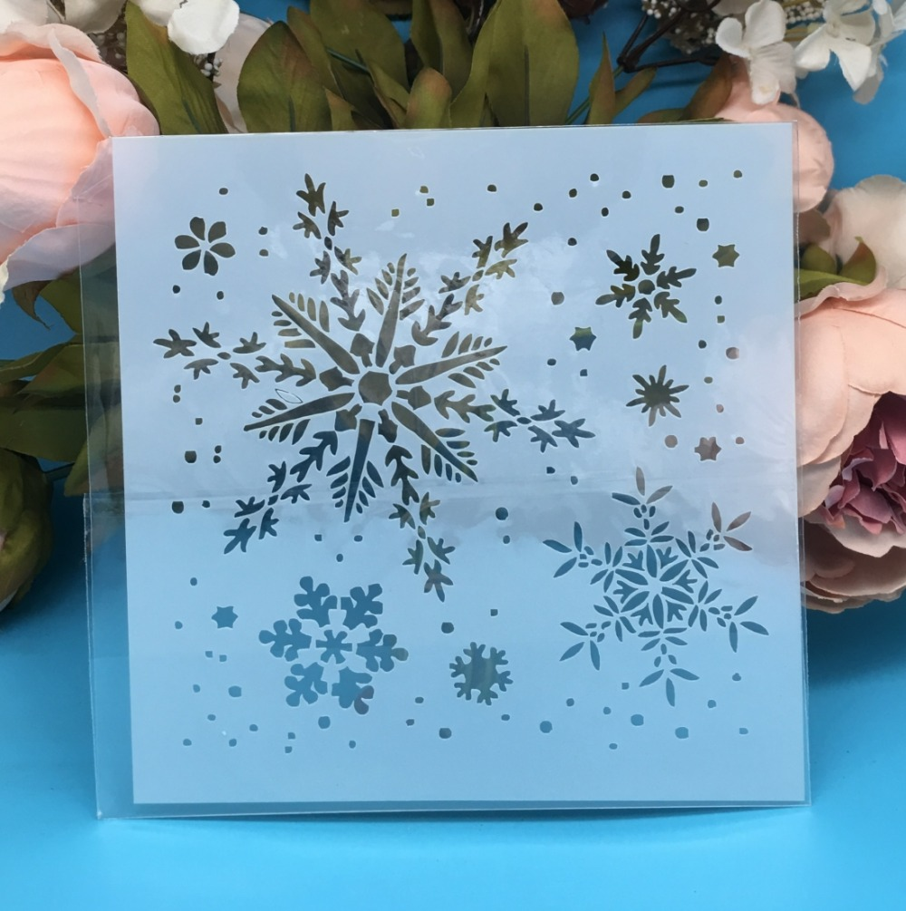 5.9inch New Snowflake DIY Layering Stencils Wall Painting Scrapbook Coloring Embossing Album Decorative Paper Card Template