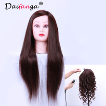 Mannequin Training Head Cosmetology Mannequin Heads 50 Human Hair Hairdressing Doll Heads With Long Hair Practice