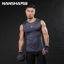 NANSHA Brand 2019 Gyms Vest Bodybuilding Clothing Fitness Men Undershirt Tank