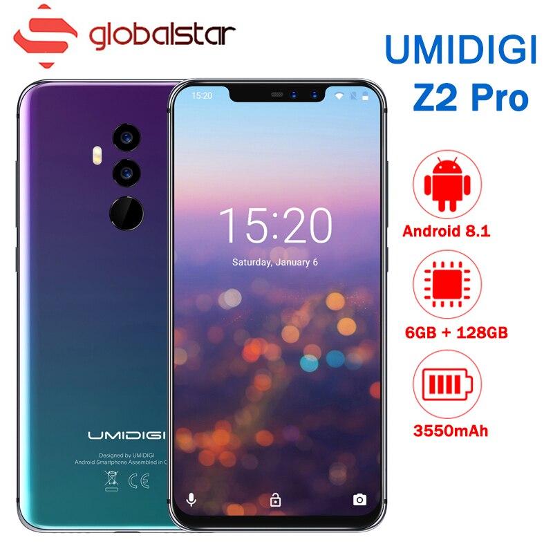 UMIDIGI Z2 Pro FHD + Plein Écran 6 gb RAM 128 ROM Mobile Téléphone Helio P60 Octa Core 6.2 android 8.1 Quatre Caméra 4g LTE téléphones Cellulaires