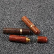Herramientas de cuero hechas a mano de bricolaje herramientas de almacenamiento de agujas de tubo de aguja de sándalo