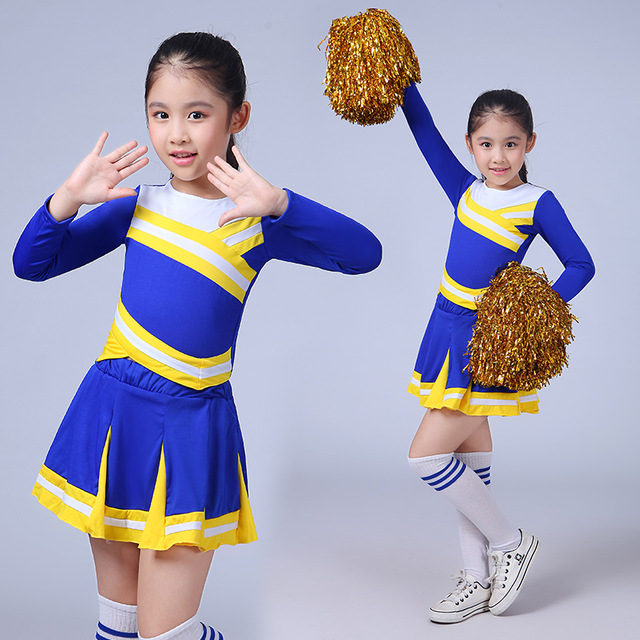 Children Academic Dress Primary School Uniforms Set Girl Cheerleader Cheer Leaders Costume Boy Aerobics Clothing Girls Uniforms