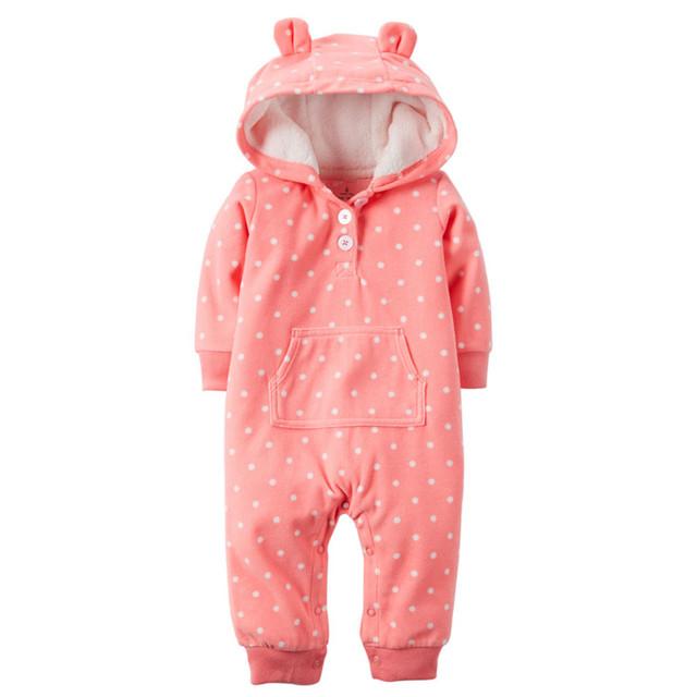 Original niños bebes de nieve ropa de Invierno sudaderas con capucha de Los Mamelucos infantiles ropa de una pieza Del Bebé Chicas chicos amor rosa trajes de jogging