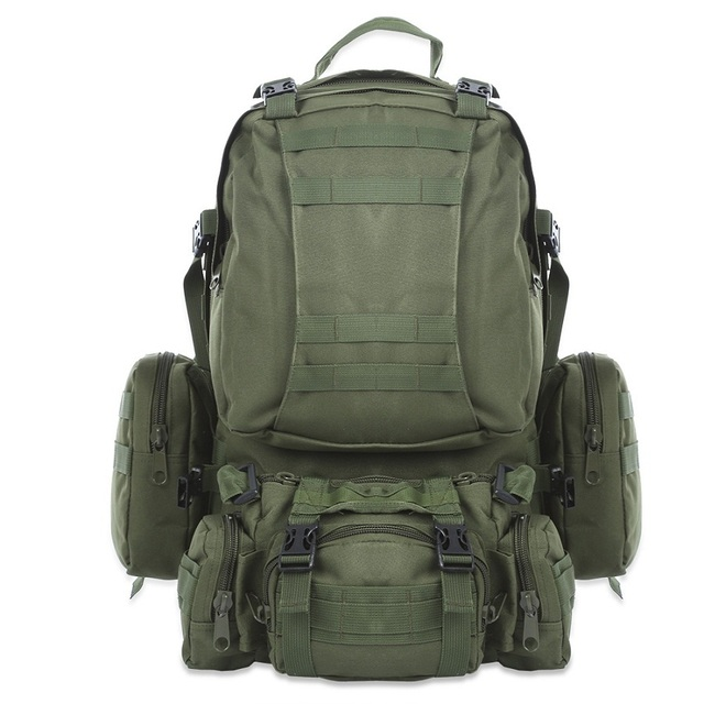 Military Tactical Sports And Waterproof 50L To 70L Outdoor Camping And Hiking Highly Durable Travel Backpack