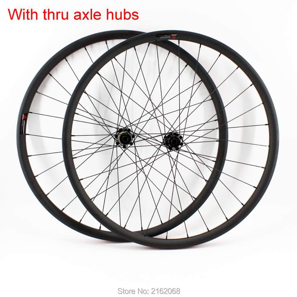 New 26/27.5/29er Mountain bike matt UD full carbon fibre disc brake Thru Axle wheelset carbon bicycle clincher rim MTB Free ship new spomann 27 5 15 17 19 inch mountain bike ud full carbon fibre thru axle bicycle frames mtb 27 5er parts headsets free ship
