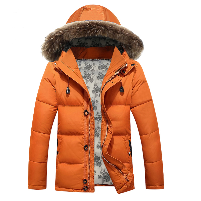 Aliexpress.com : Buy 2016 Orange Winter Jacket Men Cotton Padded ...