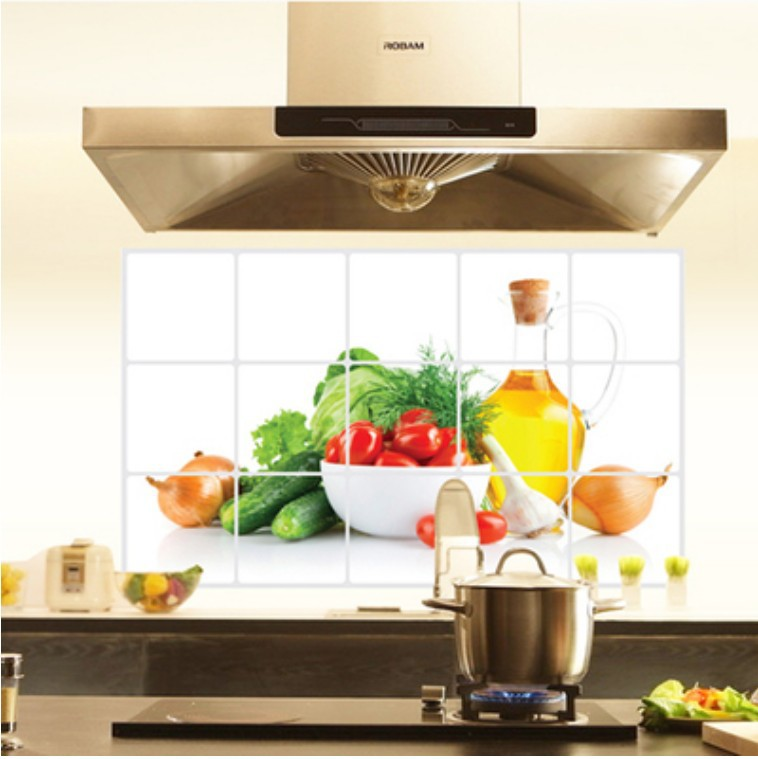 Kitchen Tiles Fruits Vegetables: Large High Temperature Resistant Aluminum Foil Stove Tile