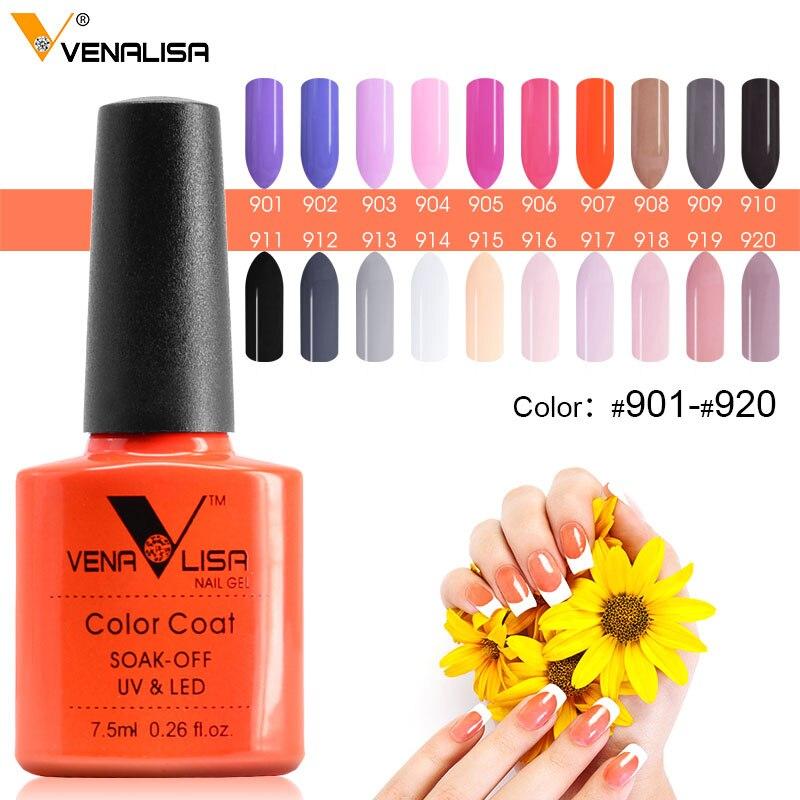 #61508 venalisa Гели для ногтей Польский Цвет Гели для ногтей Soak Off Fast Dry длительный Красота Цвет гель 901 ~ 920