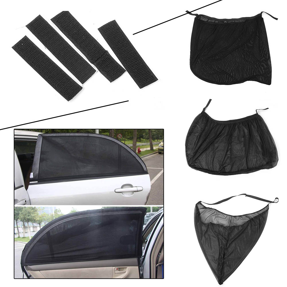 2PCS Universal Car Anti Insect Mosquito Sunscreen Window Net Door Mesh Sun Visors Automobile Parts Accessories black anti mosquito pest window net mesh screen curtain protector