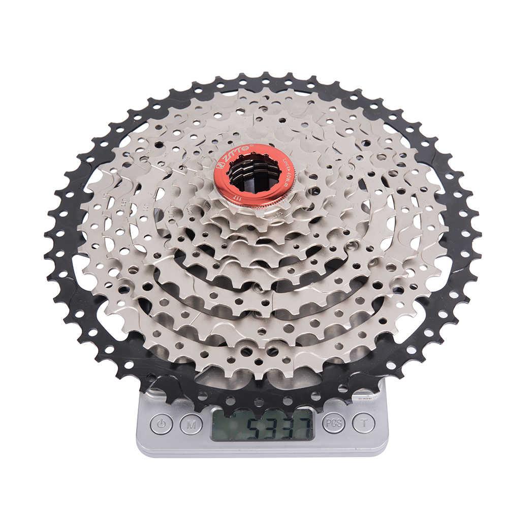 ZTTO 9 vitesses VTT Cassette 11-50T large rapport vtt 9 vitesses vélo pignon 9 S roue libre Compatible avec M430 M4000 M590