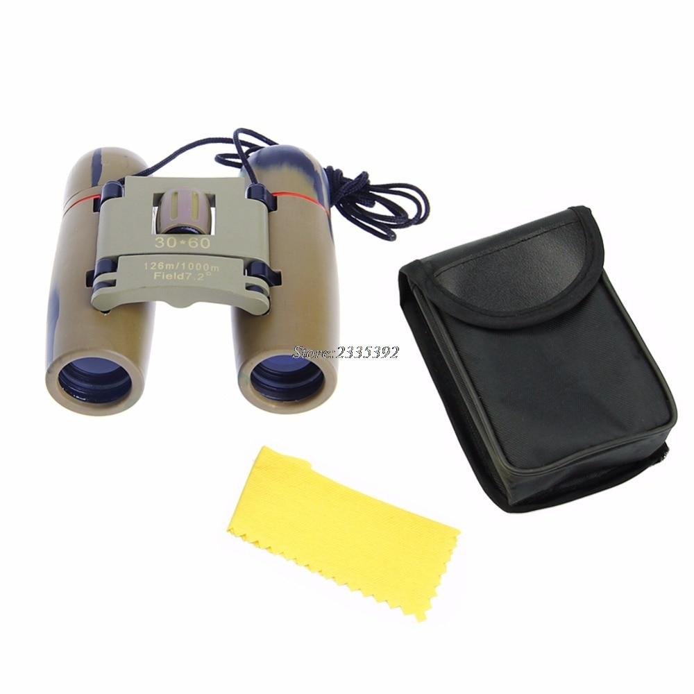 Day Night Vision 30 x 60 Zoom Outdoor Travel Folding Binoculars Telescope+Case
