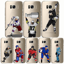 Sport Ice Hockey Sidney Crosby Cartoon Soft Silicon Phone Cases Cover Capinha Coque for Samsung C7 C8 C9 S6 S7 S8 S9 edge plus