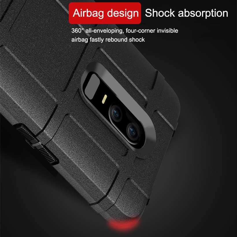 Soft Army Armor Case For One Plus 6 Cases Silicone Shield Protective Back Covers Coque for OnePlus 6 Bumper Funda Capa in Fitted Cases from Cellphones Telecommunications