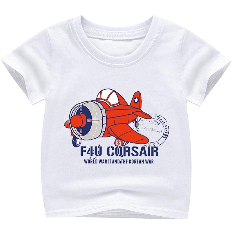 2fb34f3f8453 New Cartoon Plane Printed T Shirts Autumn 2018 Children Tops Kids Clothes Boys  T-shirts Short Sleeve Girls Blouse Cotton Tshirts